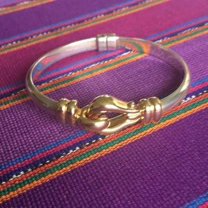 Jewelry - Sterling Silver and 14K Gold Cuff Bracelet